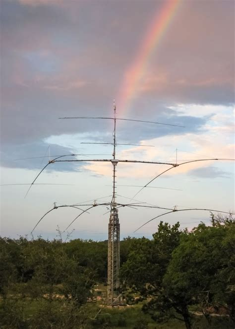 us tower hdx 572 somewhere the rainbow ham radio towers lattice style tower radio