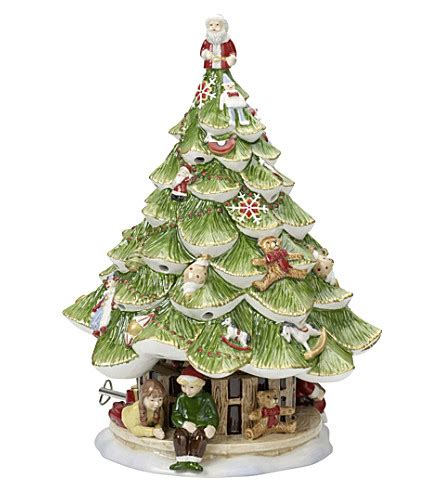 villeroy boch christmas tree musical figurine 30cm