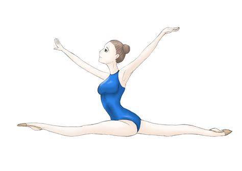 Drawing Of A Doing The Splits by Split Jump Gymnast By Krissystelja On Deviantart
