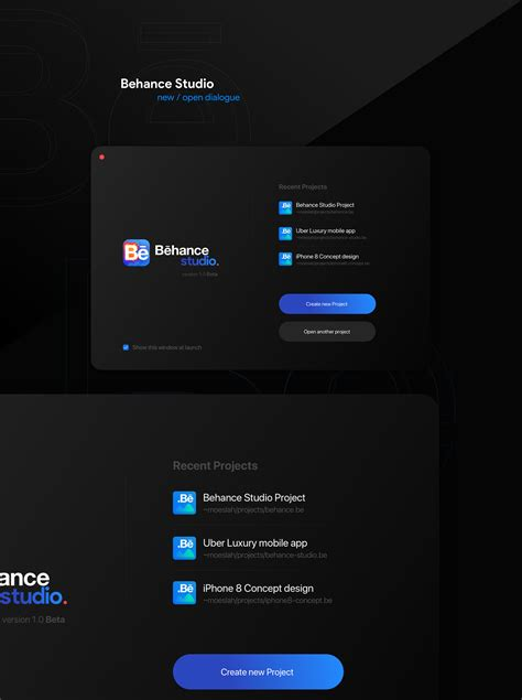 app design on behance brand identity ui ux behance studio desktop app concept