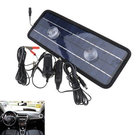 car boat battery charger car boat yacht atv rv solar panel trickle battery charger