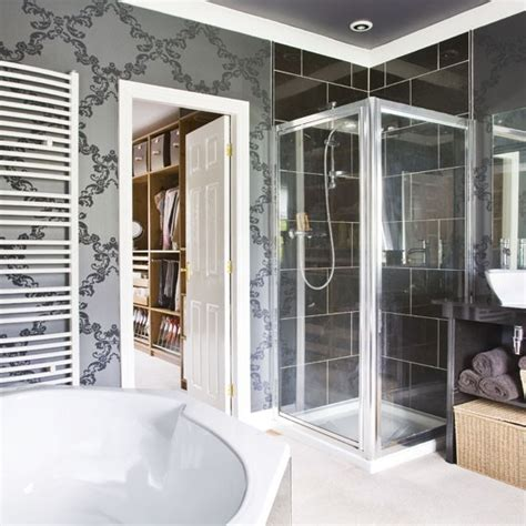 wallpapered bathrooms ideas wallpapered bathroom bathroom colour schemes