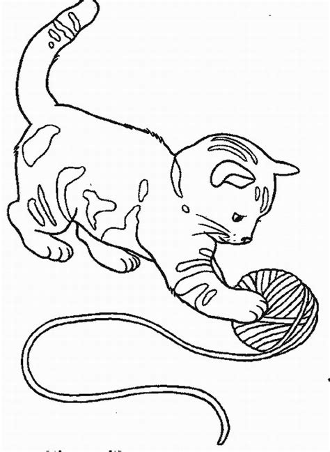 free coloring pages of cute baby kittens