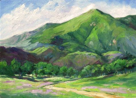 california mountain impressionist landscape painting