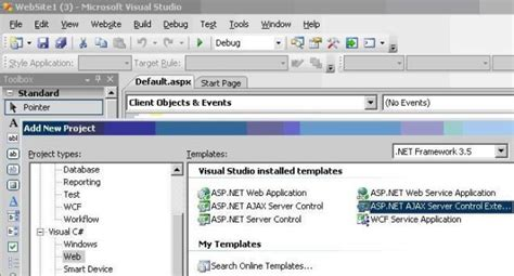 creating asp net user control creating an asp net ajax control extender using vs 2008