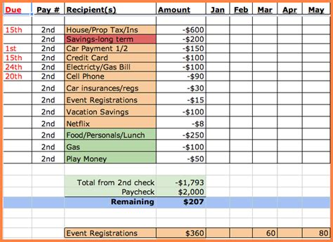 10 Monthly Bill Spreadsheet Template Excel Spreadsheets Group Billing Sheet Template
