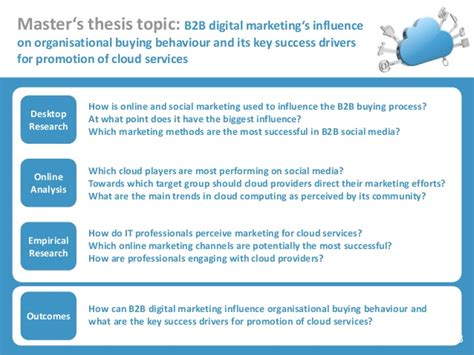 Master Thesis Digital Marketing by Digital Marketing For Cloud Services Master S Thesis Results