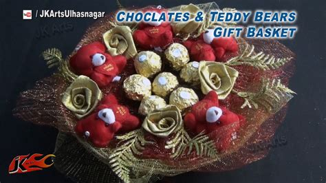 chocolate gift ideas diy chocolates and teddy gift basket s
