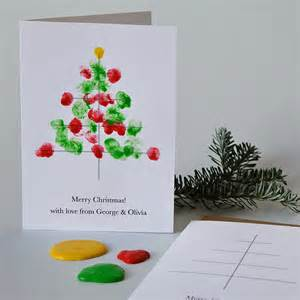 10 personalised finger paint christmas cards twenty notonthehighstreet