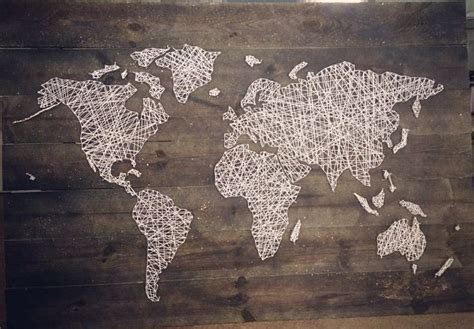 String World Map - our world map string