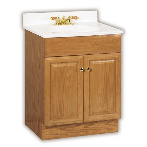 lowes bathroom vanity cabinet shop project source 25 in oak richmond single sink