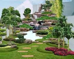 contoh gambar taman halaman rumah sederhana terbaru 2014