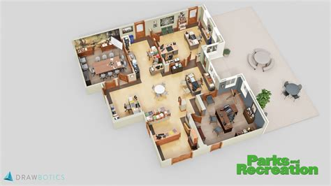 a floor plan cool 3d tv show floor plans of your favorite tv offices