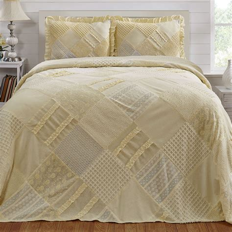 King Bedding Sets Clearance Patchwork Lightweight Chenille Bedspread Bedding