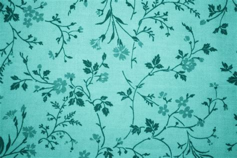 wallpaper teal flower teal floral print fabric texture picture free photograph