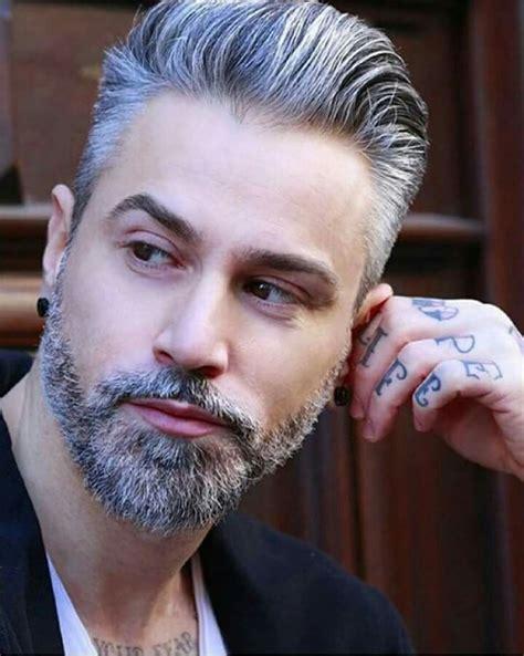 grey hair and beard and tattoos men pinterest beards 25 best ideas about silver hair men on pinterest grey