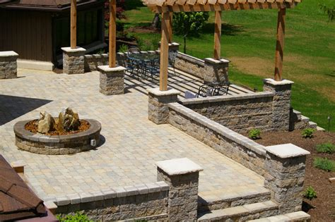 Outdoor Patio Walls by Outdoor Raised Patios And Landings Landscape Other