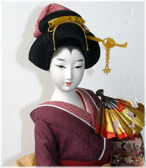 japanese doll japanese traditional interior doll with two fans japanese