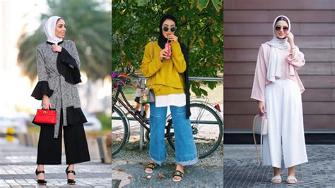 wear culotte pants   favorite hijab fashion
