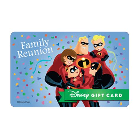 Gift Cards For Families - your wdw store disney collectible gift card incredibles family reunion