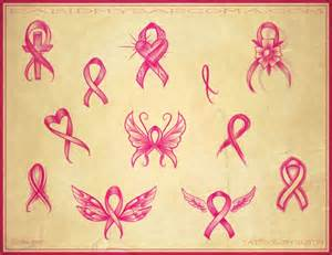 cross with cancer ribbon tattoo designs tattoos pinterest