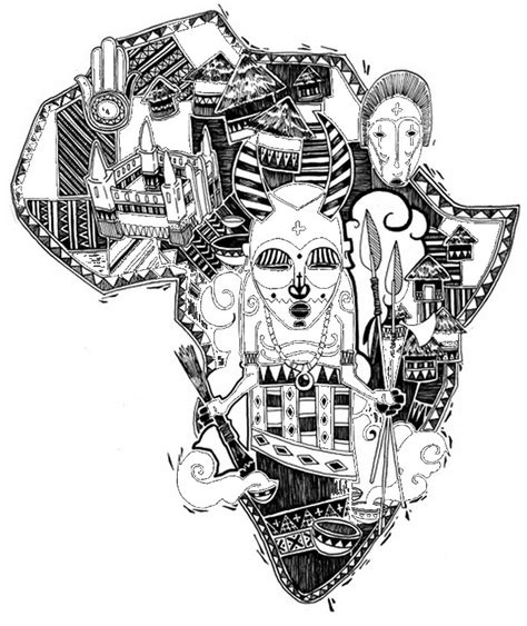 Adult Coloring Page Africa Africa 5