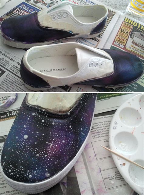 galaxy shoes diy mars en route diy galaxy shoes