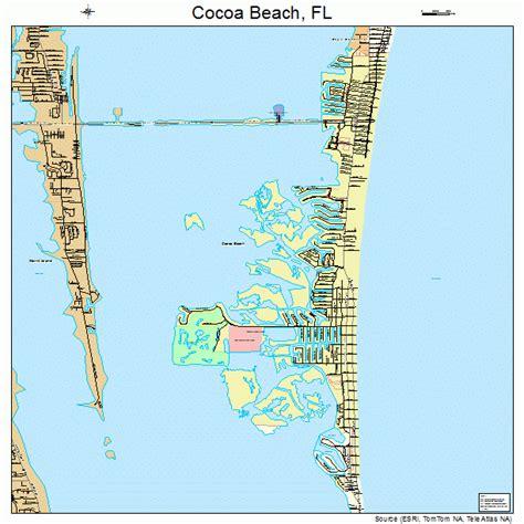 map of cocoa florida cocoa florida map 1213175
