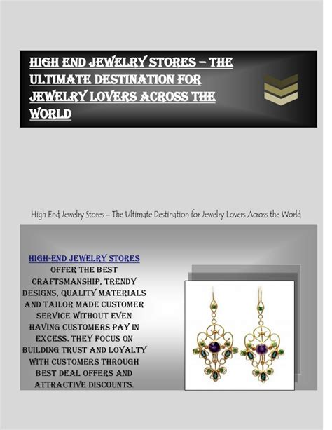High End Jewelry Stores by High End Jewelry Stores The Ultimate Destination For
