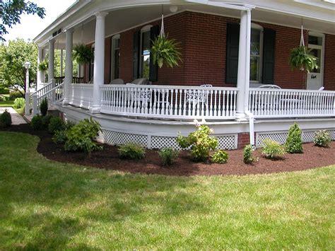 our new landscape around the wrap around porch