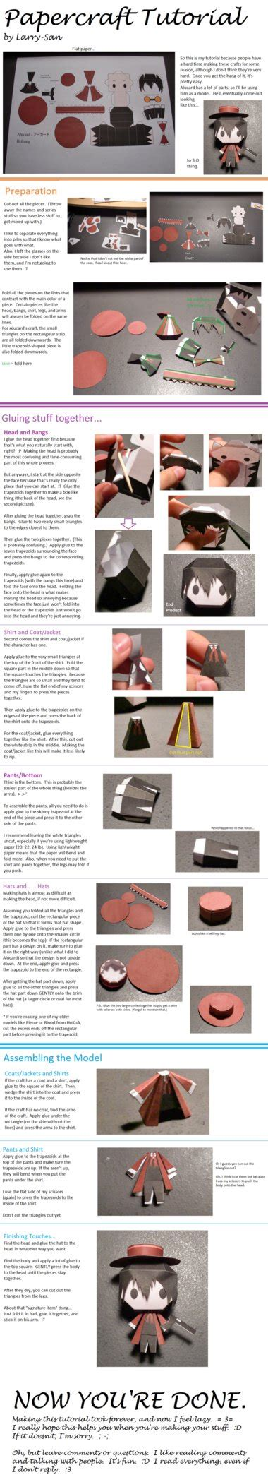 Papercraft Tutorials - chibi papercraft tutorial by larry san on deviantart
