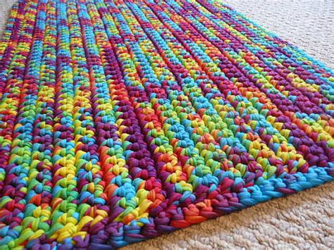 tie dye rug rainbow tie dye t shirt yarn rug rectangle 30x