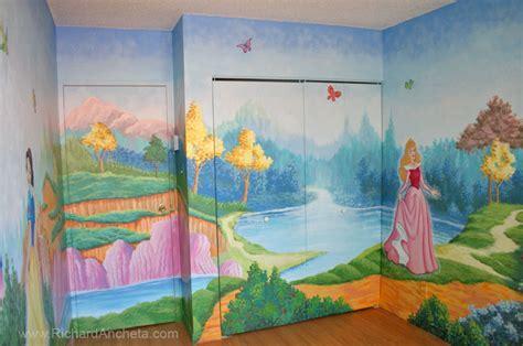 painting princess disney children s mural painting disney princesses montreal