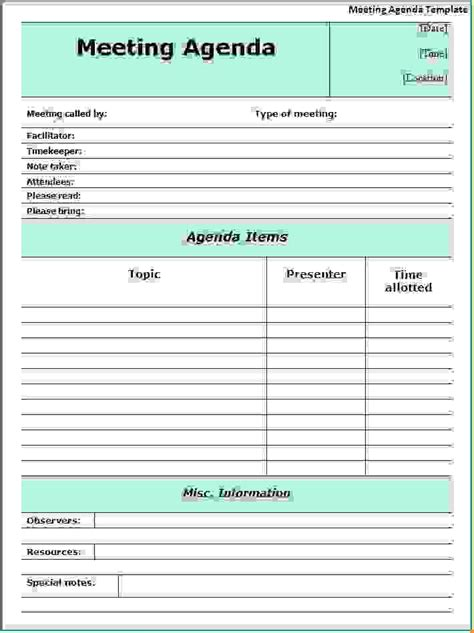 12 meeting agenda formatagenda template sle agenda