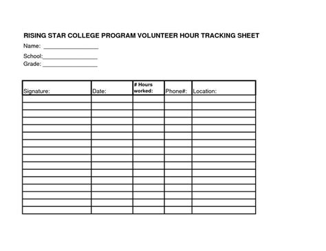 volunteer hours log template volunteer hours log sheet template teaching