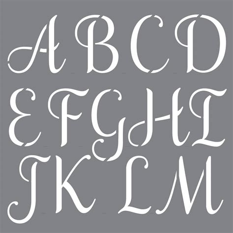 Custom Letter Stencils Uk decoart personally yours sophisticated alphabet stencil