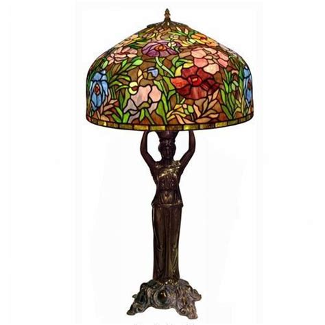 vintage victorian style tiffany table lamp