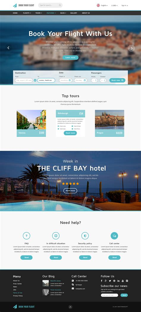 bootstrap templates for hotel reservation book your flight booking template website templates on