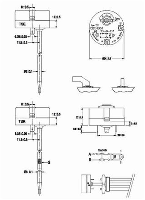 เทอร โมสต ท cotherm thermostat ร น tse series 2364027