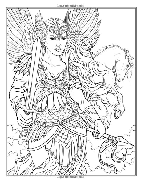 coloring pages for adults mythical amazon com goddess and mythology coloring book fantasy