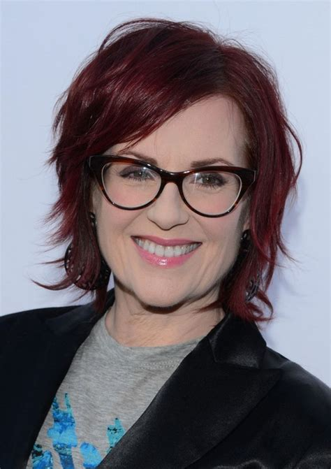 red short hairstyle for women over 50 megan mullally short messy red hairstyle for women over 50