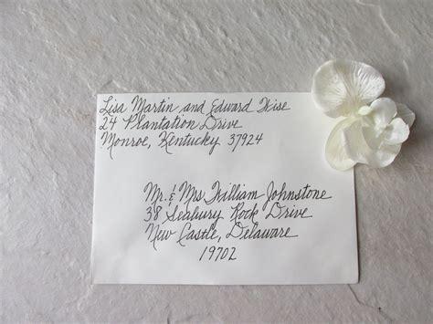 Handwritten Letter Wedding Invitation Custom Handwritten Wedding Invitation Envelopes By Thecursivehand