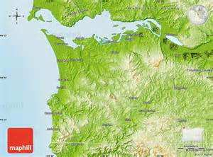 physical map of clatsop county