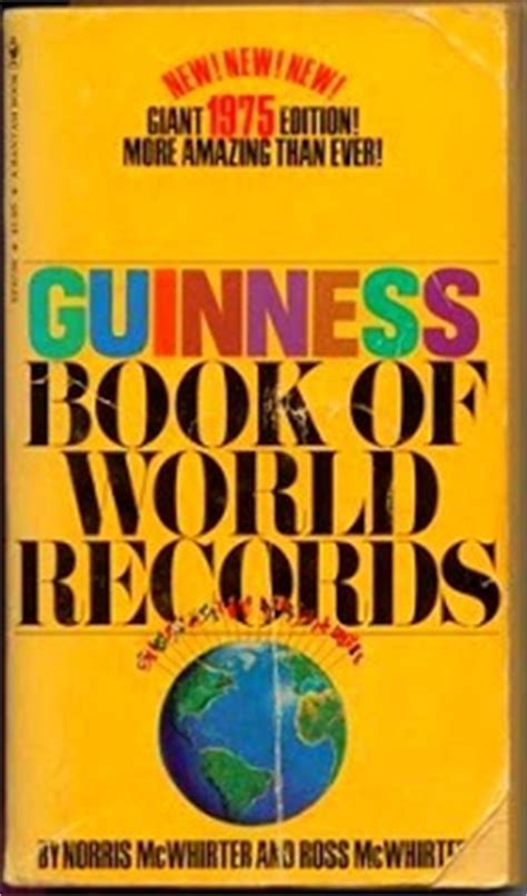 guinness world records science stuff books guinness book of world records 1975 by norris mcwhirter