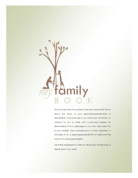 genealogy book template agendas templates family history book other books