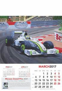 Monaco Kalendar 2018 Automobilkunst Kitson Andrew Formel 1 Kunst Grand