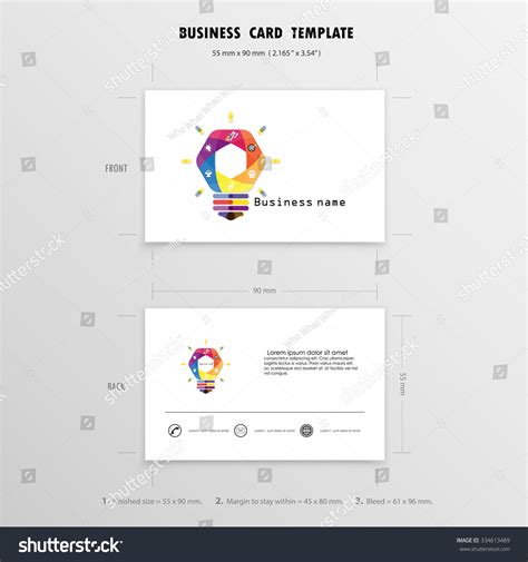 z graphic business cards template 2 x 3 1 2 abstract creative business cards design template stock