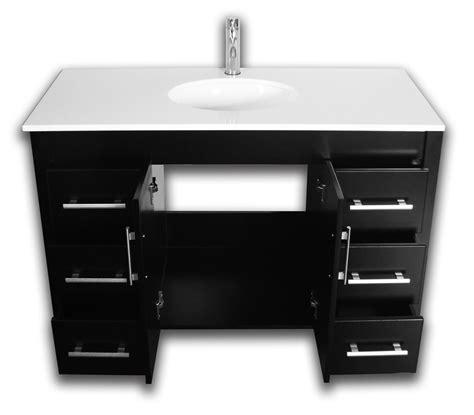 Complete Vanity Sets by 48 Quot Wood Porcelain Basin Sink Bathroom Vanity Set