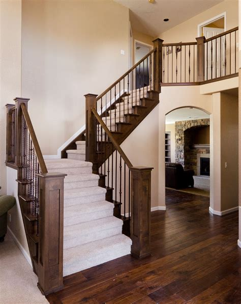 stairway banister ideas image detail for stair rail with metal balusters