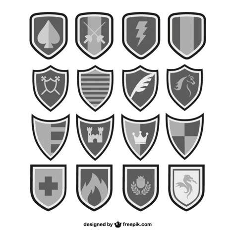 imagenes blanco y negro vectores vectores escudos en blanco y negro descargar vectores gratis